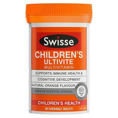 【澳洲PO药房】Swisse Ultivite 儿童复合维生素 60片  (咀嚼片)
