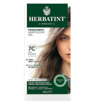 【荷兰DOD】Herbatint天然植物染发剂无氨不伤发 7C灰金色 150ml