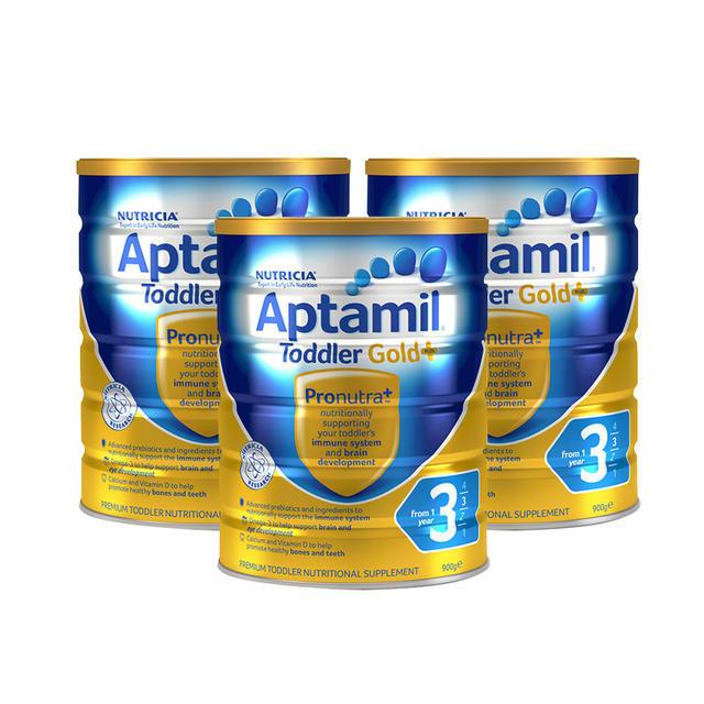 【澳洲Amcal】【3罐特惠包邮装】Aptamil 爱他美金装奶粉3段 900g3