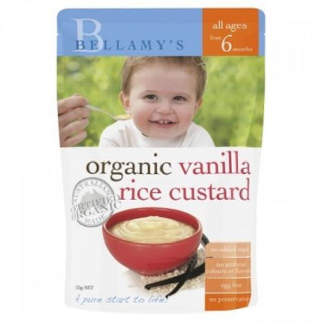 【澳洲Amcal】【超值特价】Bellamy&#039s 贝拉米 婴幼儿辅食有机粥 香草味(6个月以上)125G