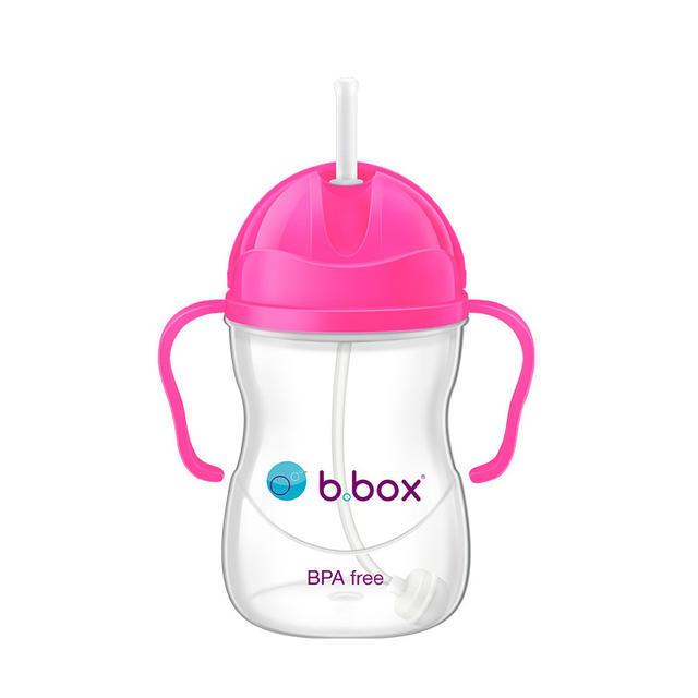 【澳洲Amcal】【任选3件首重包邮】B.box 婴幼儿重力球吸管杯 防漏 240ml 荧光粉色 (6个月以上)