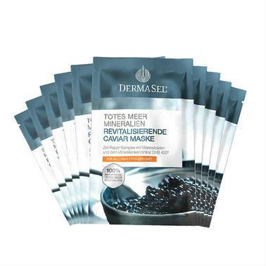 【德国DC药房】Dermasel 死海 鱼子酱复合矿物质深海酶面膜 12ml10片