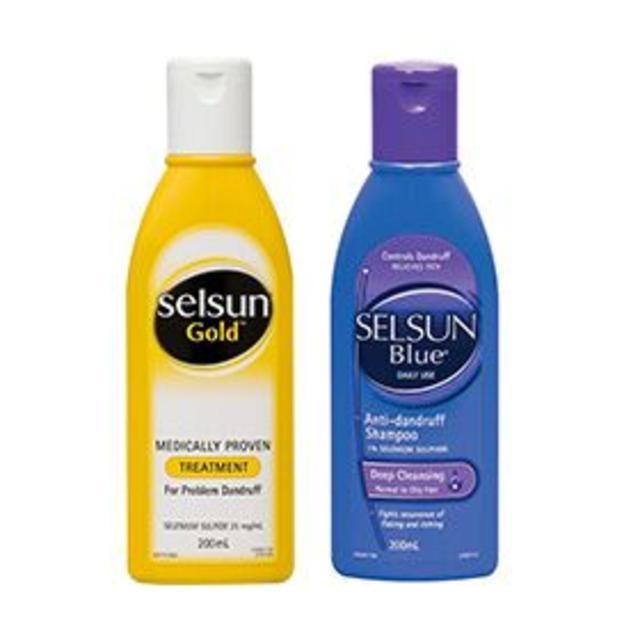 【澳洲Amcal】【组合装】Selsun Gold 特效去屑洗发露 200ml + Selsun Blue 蓝瓶 去屑洗发水 200ml