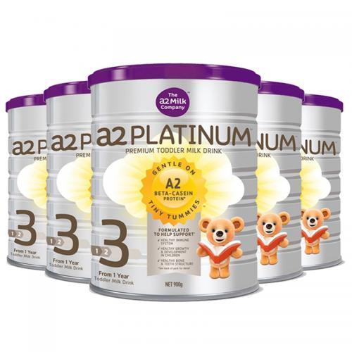 每罐188元!A2Platinum 澳洲酪蛋白婴儿奶粉 3段 900g 六罐 包邮包税