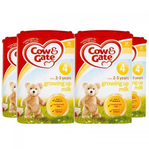 每罐低至127.5元!英国直邮 Cow&ampGate 英国牛栏 婴幼儿奶粉 3段(1~2岁) 900g4 四罐 包邮包税
