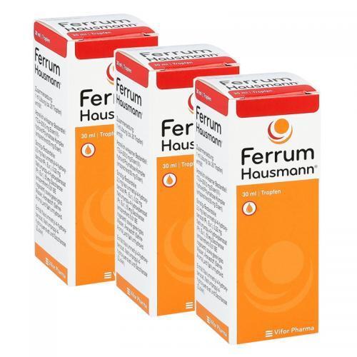 德国直邮Ferrum-Hausmann婴儿补铁液30ml 3个包邮包税 全新包装!