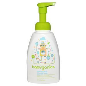 Babyganics 甘尼克宝贝 奶瓶餐具果蔬清洗剂 清洗液泡沫清洁剂 无香型 473ml