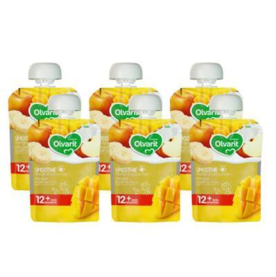 【荷兰DOD】【新品上市】Olvarit芒果椰奶思慕雪 12m865 90g