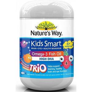 【促进智力发育】Nature&#039s Way 佳思敏儿童鱼油水果味 180粒