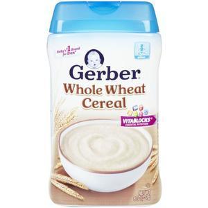 【买五免一】Gerber 嘉宝单一谷物小麦米粉 8 Ounce/227g