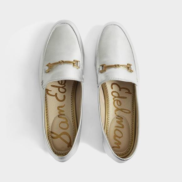 Sam Edelman Loraine Loafers 银色 乐福鞋 +Lancel Charlie 仙客来水牛皮斜挎包 nano