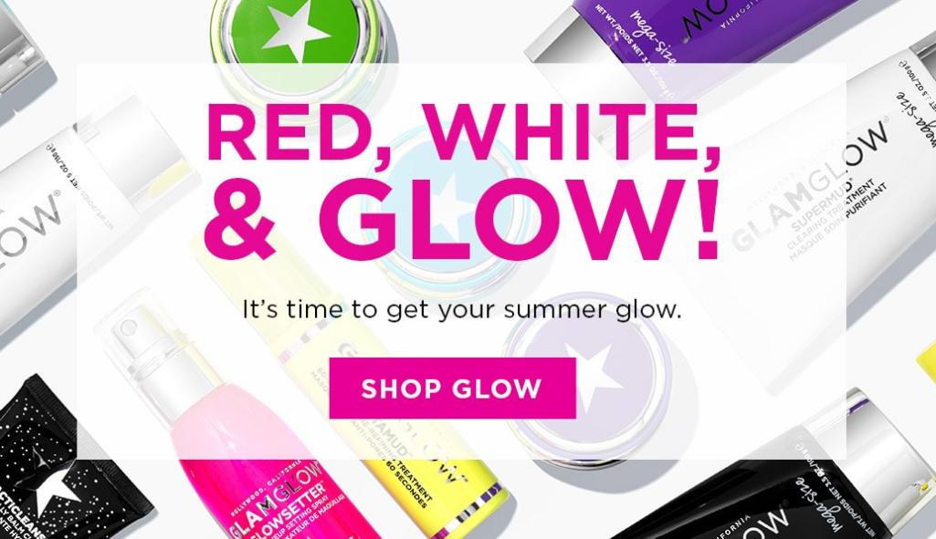 Glam Glow官网独立日精选发光面膜最高满减$30