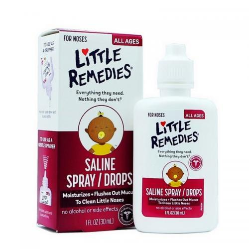 美国LittleRemedies 小鼻子盐水滴鼻剂30ml 包邮包税