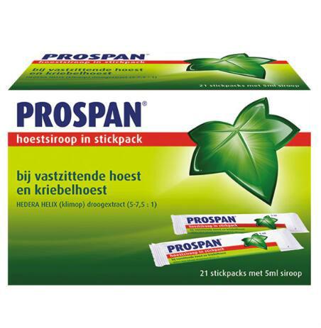 【荷兰DOD】Prospan 常春藤糖浆棒 21支 单支包装更方便卫生