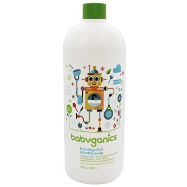 【美国Babyhaven】【2件包邮】BabyGanics甘尼克宝贝 奶瓶餐具果蔬清洗剂补充装 清洁剂替换装 无香型 9