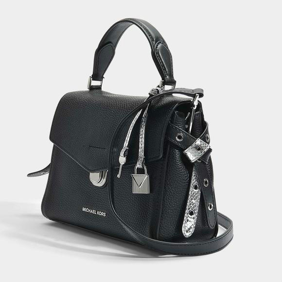 MICHAEL KORS Bristol 小号顶置手提斜挎包+Manu Atelier 植物鞣质小牛皮手提 包袋