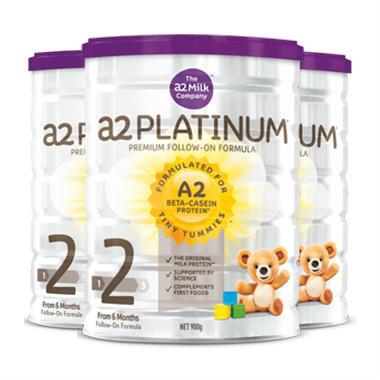 【美国Babyhaven】【限时特惠 | 3罐包邮装】A2 白金版 婴儿配方奶粉 2段 3900g/罐(6-12个月)