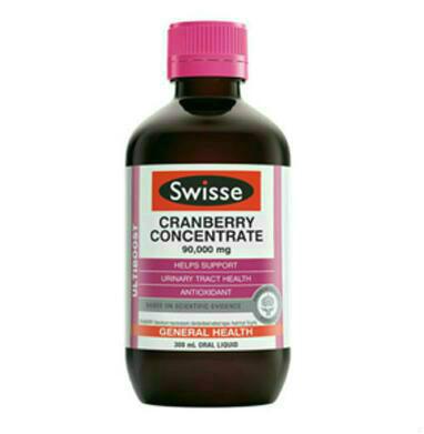 【新西兰PD】【两件免邮】Swisse 90000mg 高浓缩蔓越莓精华液体口服液 300ml