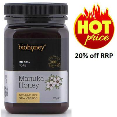 【新西兰PD】【两件包邮】Biohoney 麦卢卡蜂蜜 MG100+ 500g