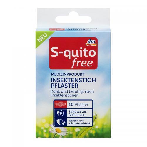 德国直邮 S-quitofree宝宝儿童蚊虫叮咬止痒贴10片 保质期至19年2月