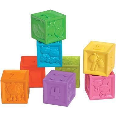 【美国Babyhaven】【用码立减3美金】Infantino 婴蒂诺 捏捏乐数字浮雕软积木 8个装