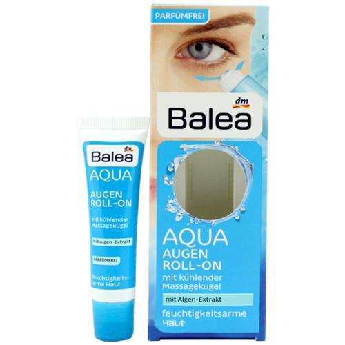 限时特惠!德国直邮 Balea芭乐雅 AQUA蓝藻水凝滚珠保湿眼霜 15ml