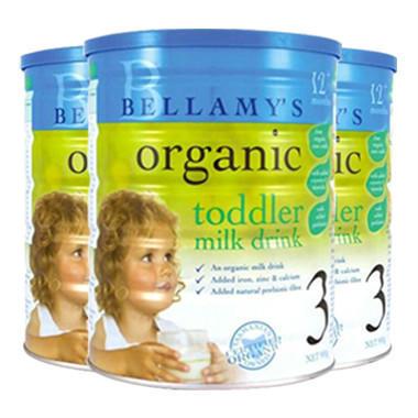 【美国Babyhaven】【3罐包邮装】贝拉米 有机婴幼儿奶粉 900g 3段