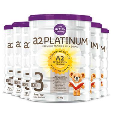 【6罐包邮装】A2 白金系列 婴幼儿配方奶粉 3段 6900g/罐