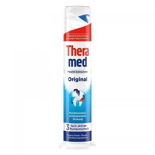 活动还剩1天半:德国直邮 汉高Theramed 美白防护抗菌型牙膏蓝色 100ml