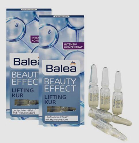 【德国BA】2 x Balea Beauty Effect芭乐雅玻尿酸系列浓缩精华安瓶补水提拉紧致 2x7支