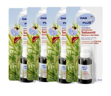 【德国DC】德国DAS gesunde PLUS 有机茶树精油4支装 抗菌去痘 4x30ml