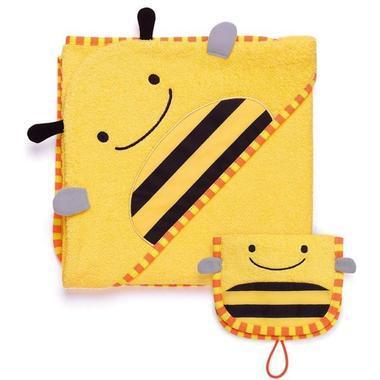 【满$65减$3】Skip Hop 连帽浴巾+沐浴手套 套装 蜜蜂