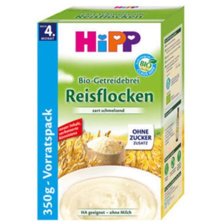 【德国DC】Hipp 喜宝 宝宝有机精细纯大米免敏米粉/米糊 350g 4个月以上宝宝辅食 不含糖
