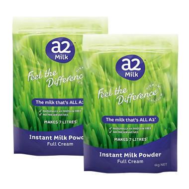 【美国Babyhaven】【2罐包邮装】A2 全脂高钙成人奶粉1kg2