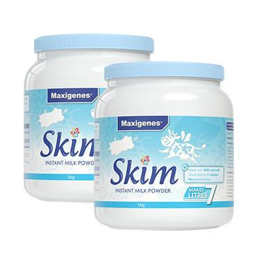 【美国Babyhaven】【2罐包邮装】Maxigenes 美可卓 高钙脱脂奶粉(含维A/维D)1kg2