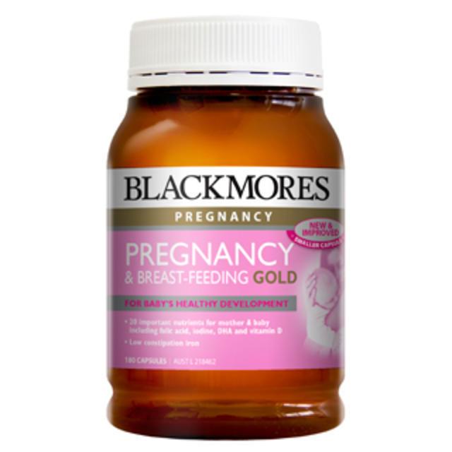 【澳洲Amcal】Blackmores 澳佳宝 孕期及哺乳黄金营养素胶囊 180粒