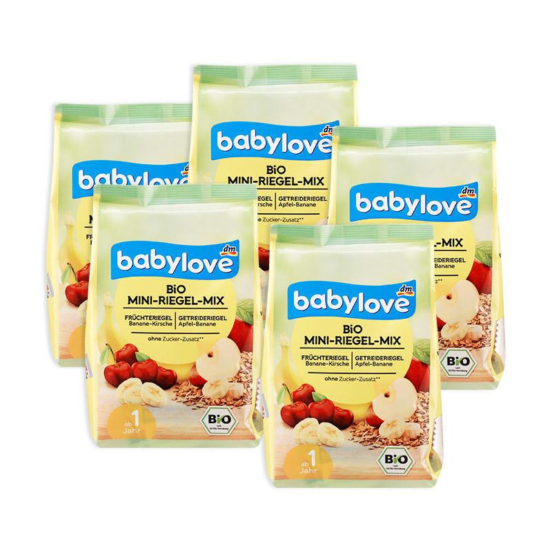 【5包特惠装】DM超市 Babylove 有机苹果香蕉味/香蕉樱桃味复合水果糕 100 g