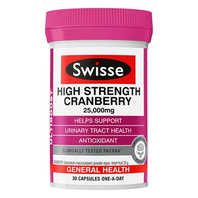 【澳洲Amcal】【限时特价】Swisse 澳洲蔓越莓精华胶囊 30粒(女性必备)