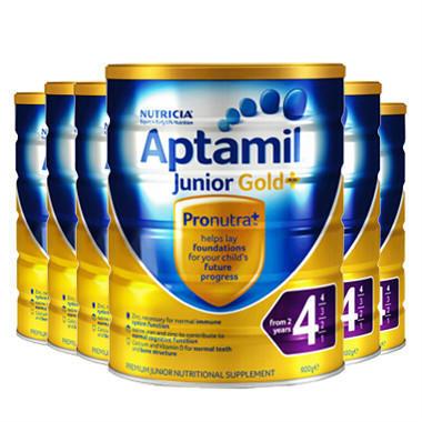 【6罐包邮装】Aptamil 爱他美 金装版婴幼儿奶粉 900g6 4段