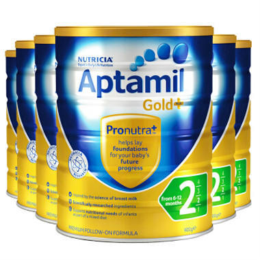 【美国Babyhaven】【6罐包邮装】Aptamil 爱他美 金装版婴幼儿奶粉 900g6 2段
