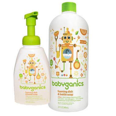 【美国Babyhaven】【无门槛立减2美金】BabyGanics 宝宝奶瓶餐具果蔬清洁液柑橘香+补充装