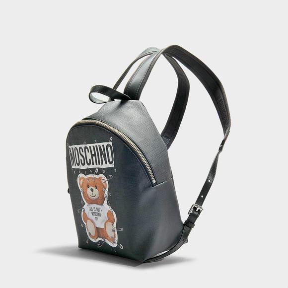 Moschino Teddy Safety Pin 小号 背包+Moschino 丝绒 相机包