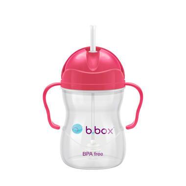 【3件包邮】B.box 婴幼儿重力球吸管杯 防漏 240ml 莓红色