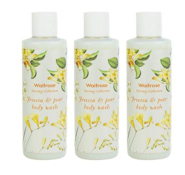 【3件包邮装】Waitrose 经典系列 小苍兰与梨子味沐浴露 3250ml/瓶
