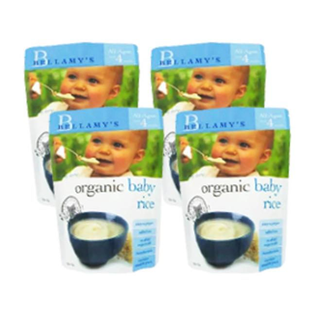 【Amcal澳洲药房】【断货王 -4件套】Bellamy&#039s 贝拉米 婴幼儿有机米粉(4个月以上)125g4