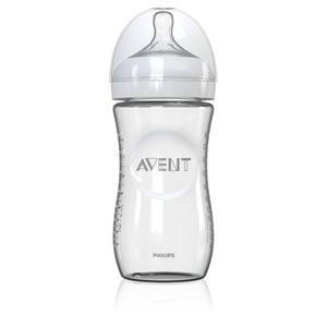 Philips Avent 飞利浦新安怡 宽口径自然玻璃奶瓶 240ml 配慢流量2孔奶嘴(1m+适用 )