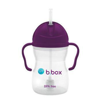 【澳洲CD药房】B.box 婴幼儿重力球吸管杯 防漏 240ml 葡萄紫 (6个月以上)