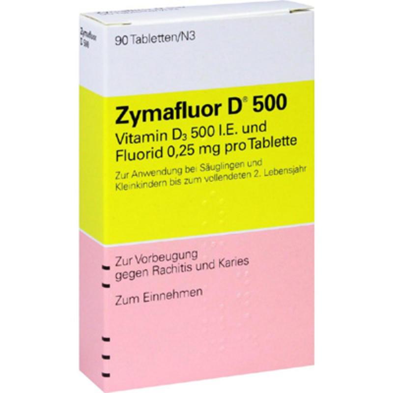 Zymafluor 婴幼儿维生素D3片 90片 预防佝偻