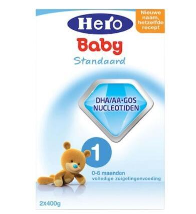 【荷兰DOD】Hero  Baby 婴儿配方奶粉1段 800g (0-6个月)