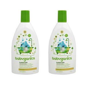 【2件包邮装】BabyGanics 甘尼克宝贝 泡泡浴露 洋甘菊马鞭草香味 20盎司(约591ml) 2